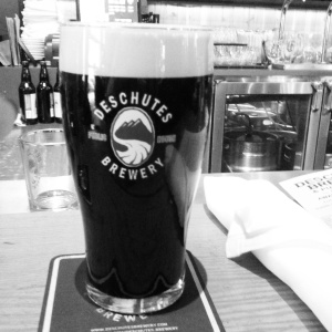Pint at Deschutes Brewpub in Portland, Oregon