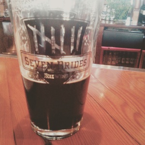 Pint at Seven Brides Brewing