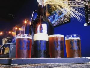 Taster flight at Mazama Brewing in Corvallis, Oregon