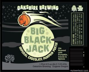 The Big Black Jack Imperial Chocolate Porter from Oakshire Brewing in Eugene, Oregon