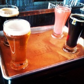 Taster flight at Craft Kitchen and Brewery on the Bend Ale Trail