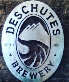 Deschutes Brewery! The beautiful sign at the entry of the tasting room in Bend, Oregon
