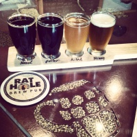 Taster flight at Rat Hole Brewing in Bend, Oregon