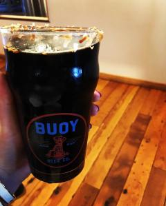 Buoy Brewing German Chocolate Stout in Astoria, Oregon